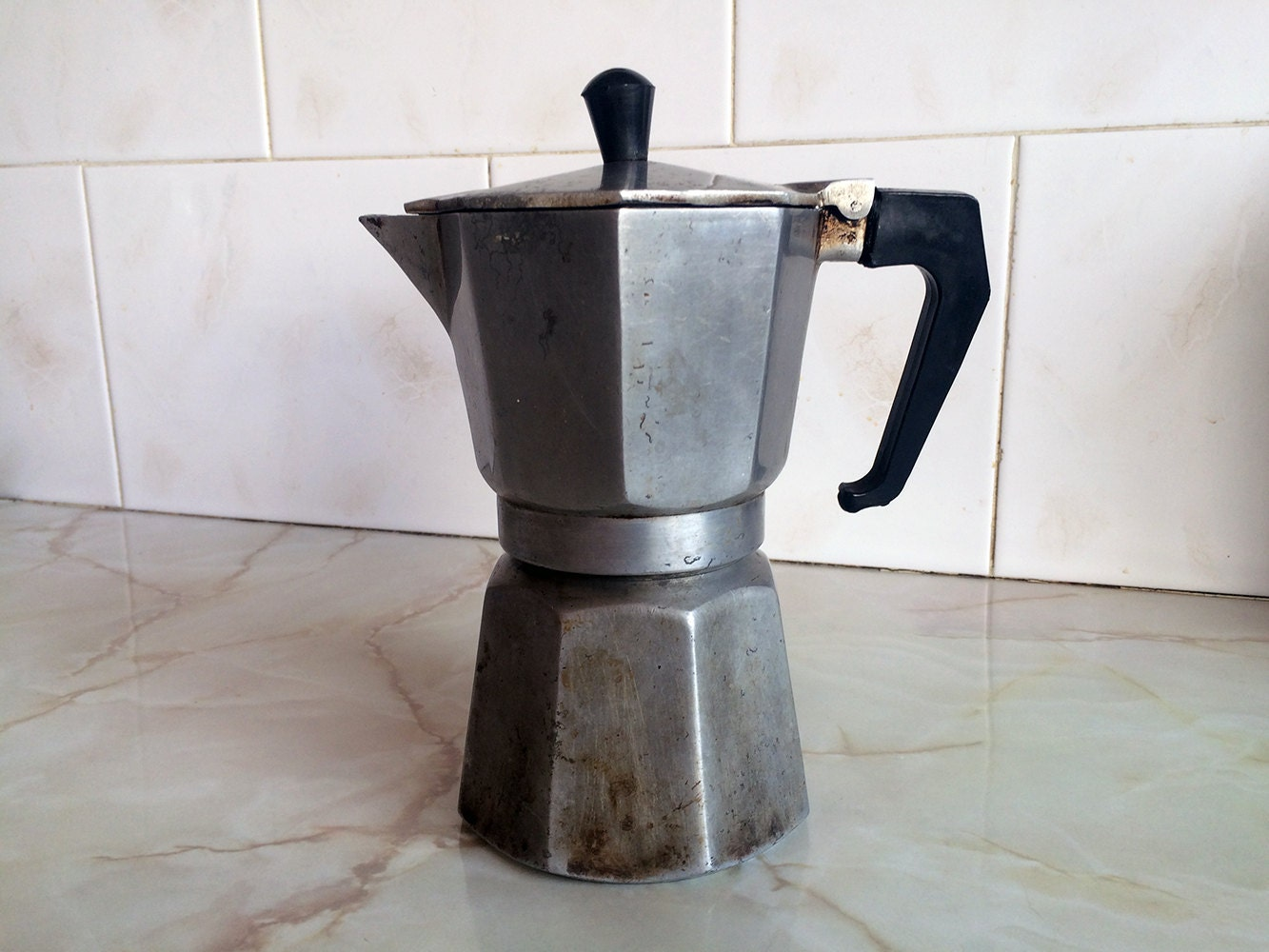 Vintage coffee maker Distressed coffee maker Old coffee maker