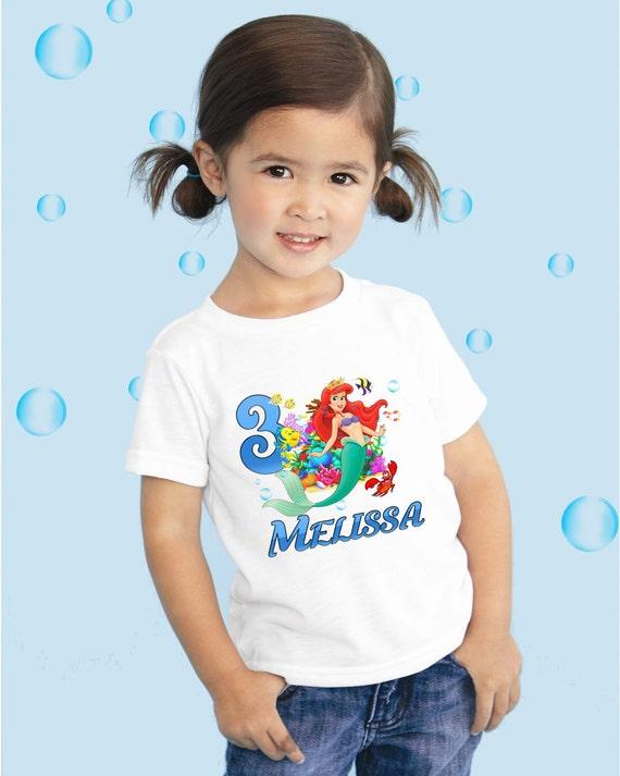 Little mermaid ariel personalized custom birthday by doinashop