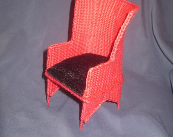 Vintage wicker doll's chair for doll