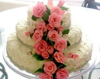 fondant roses, fondant flowers, cake decorating, cake decorations, wedding cake flowers, wedding cakes, custom flowers,