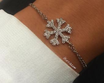 925 Sterling Silver Snowflake Bracelet