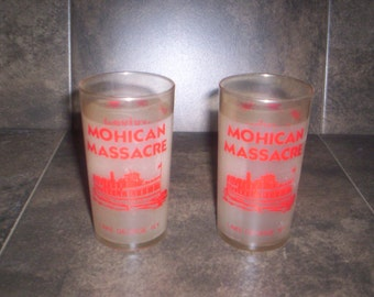 Mohican Massacre Lake George Pint Glasses