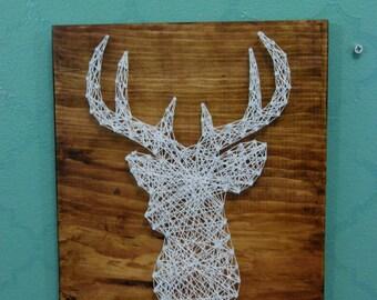 Stag Deer Head String Art