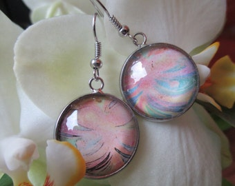 EARRINGS cabochon pastel colour