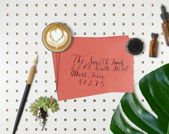 Calligraphy for your wedding invitations, save the dates, or other party invitations