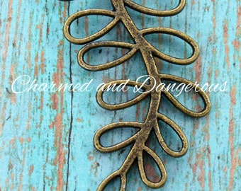 Antique Bronze Branch necklace component