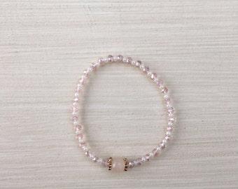 Pink crystal bracelet - pink crystals bracelet