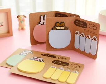 Memo Pads, Post it Notes, Memo Pad, Sticky Notes, Notepad, Cute Animal Notepad, Sheep, Bear, Rabbit,