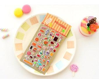 Cute Food Sticker, Planner food stickers, Kawaii food stickers