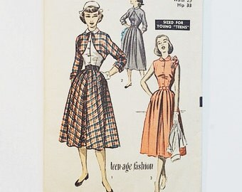 50s Dress & Bolero Pattern | Advance 5768 Bolero Skirt Pattern | 50s Sewing Pattern