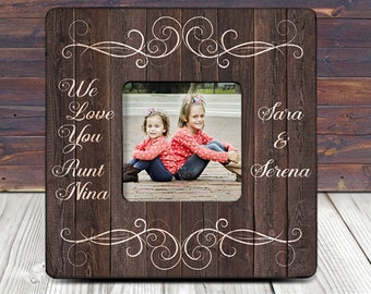 we love you aunt custom picture frame personalized aunt gift