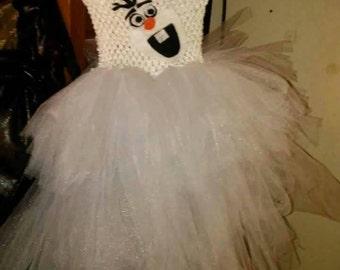 Olaf tutu dress costume