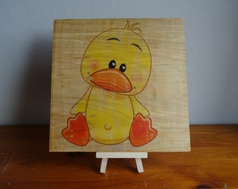 Baby/Young child Duck wood print