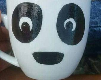 Panda face handpainted mug