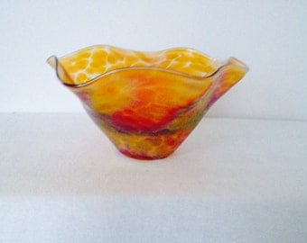 Vintage Tiffany Favrile - Style Flared Small Bowl