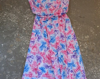 Vintage Dress - Gathered at the Waist 70s Day Dress