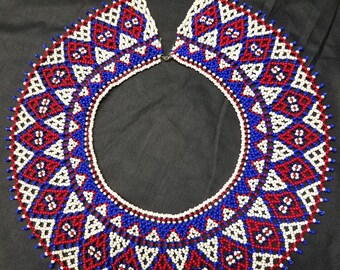 Beaded jewelry collar