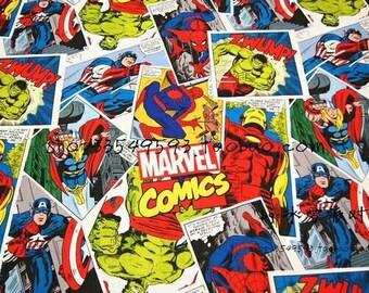 Marvel Comics Avengers Fabric Remnant 40cm x 30cm