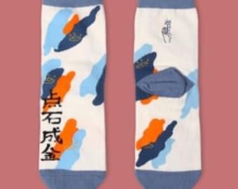 Funky Chinese character magic socks