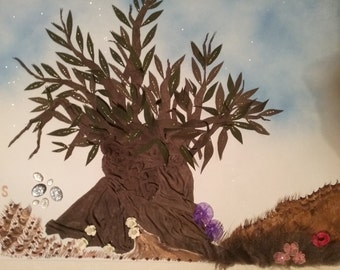 The 500 years old olive tree