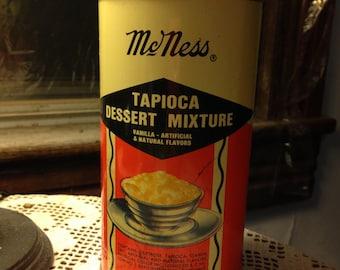 McNESS TAPIOCA DESSERT TIN