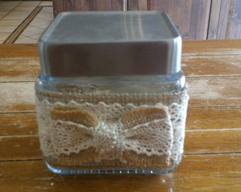 Square Votive Candle Holder with Votive