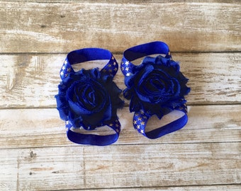 4th of July Barefoot Sandals/Baby Barefoot Sandals/Barefoot Sandals/Baby Shoes/Baby Sandals/Newborn Sandals/Patriotic Sandals/Baby Girl Shoe