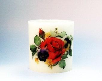 BloomLight Wax Lantern Hurricane - Floral 1