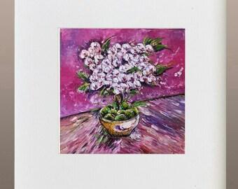 Art Print - Cherry Blossoms in Pot