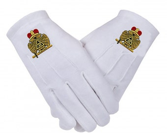 33rd DEGREE Wings Down GLOVES - Embroidered Logo - Cotton in 5 Sizes
