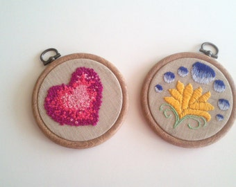 Hand made Embroidered Framed Pictures