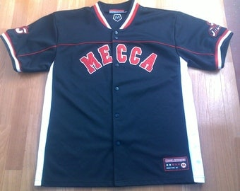 MECCA jersey, vintage t-shirt, hip hop shirt of 90s hip-hop clothing, 1990s gangsta rap, OG, size L
