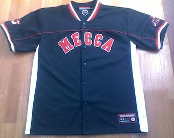 MECCA jersey, vintage t-shirt, hip hop shirt of 90s hip-hop clothing, 1990s gangsta rap, OG, size L