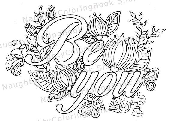 Be you coloring page law of attraction positive vibes for Positive quotes coloring pages
