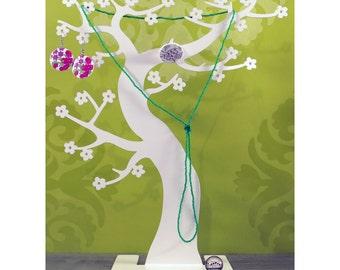 Tree jewelry Hanami magenta pink or white