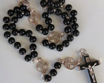 Handmade Black Rosary / Rosary Necklace