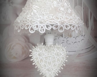 Lamp chic shabby Calais lace