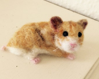 Needle felted hamster, MADE TO ORDER.