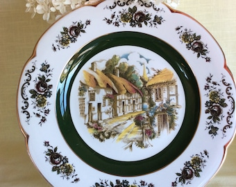 Vintage Ascot Wood & Sons service plate decorative wall plate home decor
