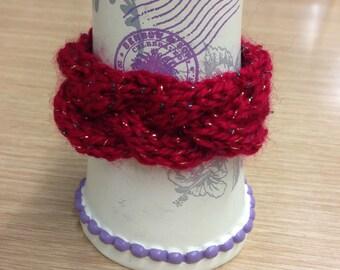 Red cabled bracelet
