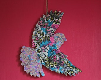 Decoupage Bird Wall Hanging