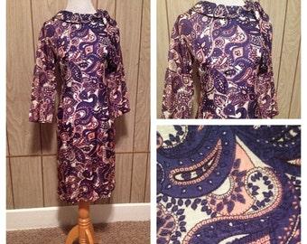 Vintage 60's paisley dress - m/l