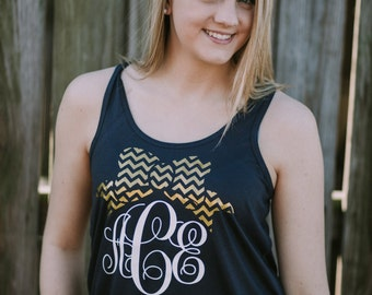 Monogrammed Bow Tank