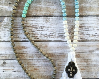 Faith & Lace Tassel Necklace