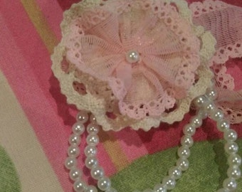 Bridesmaids gifts,bracelet fabric flowers,handmade,crochets flower,gift,floral,wedding,bridel