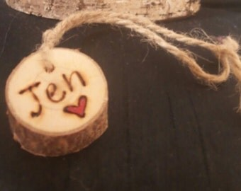 Personalised wooden hanging gift