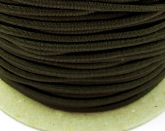 5, 10, 50 m rubber cord 2 mm dark green