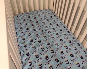 Royals Baseball Crib Sheets