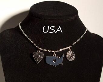 USA Travel/Nurse/Medical Necklace