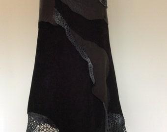 Scharzer leather skirt